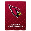 "Arizona Cardinals NFL ""Diamond Plate"" 60' x 80"" Raschel Throw"