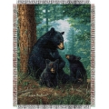 "Hautman Bros. Naptime  48"" x 60"" Metallic Tapestry Throw"