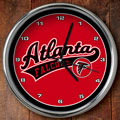 "Atlanta Falcons NFL 12"" Chrome Wall Clock"