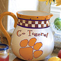 "Clemson Tigers NCAA College 14"" Gameday Ceramic Chip and Dip Platter"