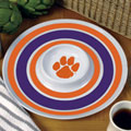 "Clemson Tigers NCAA College 14"" Round Melamine Chip and Dip Bowl"