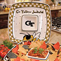 "Georgia Tech Yellowjackets NCAA College 14"" Gameday Ceramic Chip and Dip Tray"
