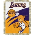 "Los Angeles Lakers NBA Baby 36"" x 46"" Triple Woven Jacquard Throw"