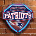 New England Patriots NFL Neon Shield Wall Lamp