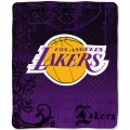 "Los Angeles Lakers NBA Micro Raschel Blanket 50"" x 60"""