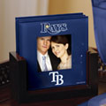 Tampa Bay Devil Rays MLB Art Glass Photo Frame Coaster Set
