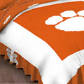 Clemson Tigers Queen Bed Skirt