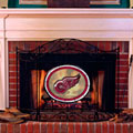 Detroit Redwings NHL Stained Glass Fireplace Screen