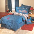 Atlanta Braves Team Denim Queen Comforter and Sheet Set