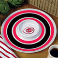 "Cincinnati Reds MLB 14"" Round Melamine Chip and Dip Bowl"