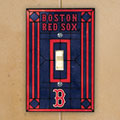 Boston Red Sox MLB Art Glass Single Light Switch Plate Cover