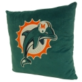 "Miami Dolphins NFL 16"" Embroidered Plush Pillow with Applique"