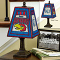 Kansas Jayhawks NCAA College Art Glass Table Lamp