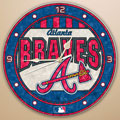 "Atlanta Braves MLB 12"" Round Art Glass Wall Clock"