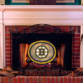 Boston Bruins NHL Stained Glass Fireplace Screen