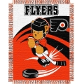 "Philadelphia Flyers NHL Baby 36"" x 46"" Triple Woven Jacquard Throw"