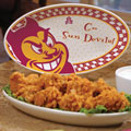 "Arizona State Sun Devils NCAA College 12"" Gameday Ceramic Oval Platter"