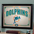 Miami Dolphins NFL Framed Glass Mirror