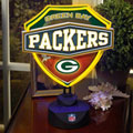 Green Bay Packers NFL Neon Shield Table Lamp