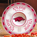 "Arkansas Razorbacks NCAA College 14"" Ceramic Chip and Dip Tray"