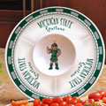 "Michigan State Spartans NCAA College 14"" Ceramic Chip and Dip Tray"