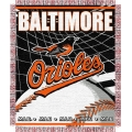 "Baltimore Orioles MLB 48""x 60"" Triple Woven Jacquard Throw"