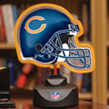 Chicago Bears NFL Neon Helmet Table Lamp