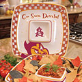 "Arizona State Sun Devils NCAA College 14"" Gameday Ceramic Chip and Dip Tray"