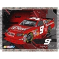 "Kasey Kahne #9 NASCAR ""Flash"" 48"" x 60"" Metallic Tapestry Throw"
