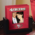 San Francisco 49ers NFL Art Glass Photo Frame Coaster Set