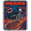 "Chicago Bears NFL ""Spiral"" 48"" x 60"" Triple Woven Jacquard Throw"