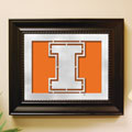 Illinois Illini NCAA College Laser Cut Framed Logo Wall Art
