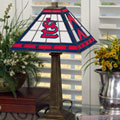 St. Louis Cardinals MLB Stained Glass Mission Style Table Lamp