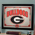 Georgia UGA Bulldogs NCAA College Framed Glass Mirror