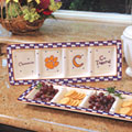 Clemson Tigers NCAA College Gameday Ceramic Relish Tray