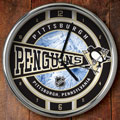 "Pittsburgh Penguins NHL 12"" Chrome Wall Clock"
