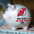 New Jersey Devils NHL Ceramic Piggy Bank