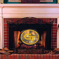 Georgia Tech Yellowjackets NCAA College Stained Glass Fireplace Screen