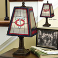 Minnesota Twins MLB Art Glass Table Lamp