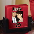 Arizona Diamondbacks MLB Art Glass Photo Frame Coaster Set