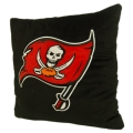 "Tampa Bay Buccaneers NFL 16"" Embroidered Plush Pillow with Applique"
