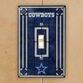 Dallas Cowboys NFL Art Glass Single Light Switch Plate Cover