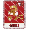 "San Francisco 49ers NFL Baby 36"" x 46"" Triple Woven Jacquard Throw"