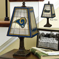 St. Louis Rams NFL Art Glass Table Lamp