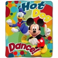 "Mickey Mouse Hog Dog Dance Entertainment 50"" x 60"" Micro Raschel Throw"