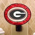 Georgia UGA Bulldogs NCAA College Art Glass Nightlight