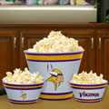 Minnesota Vikings NFL Melamine 3 Bowl Serving Set