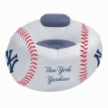 New York Yankees MLB Vinyl Inflatable Chair w/ faux suede cushions