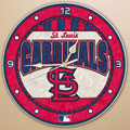 "St. Louis Cardinals MLB 12"" Round Art Glass Wall Clock"