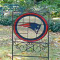 New England Patriots NFL Stained Glass Outdoor Yard Sign